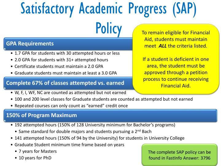 Satisfactory Academic Progress (SAP) Policy