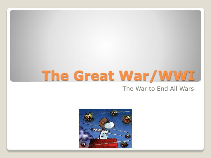 the great war wwi n.