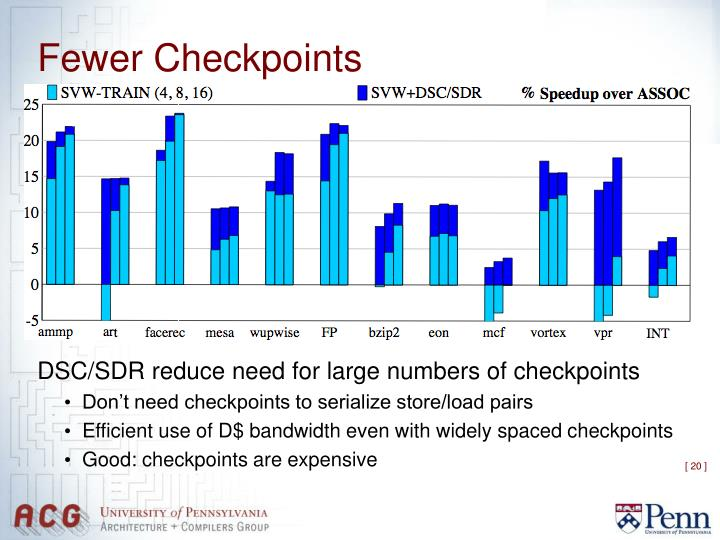 Fewer Checkpoints