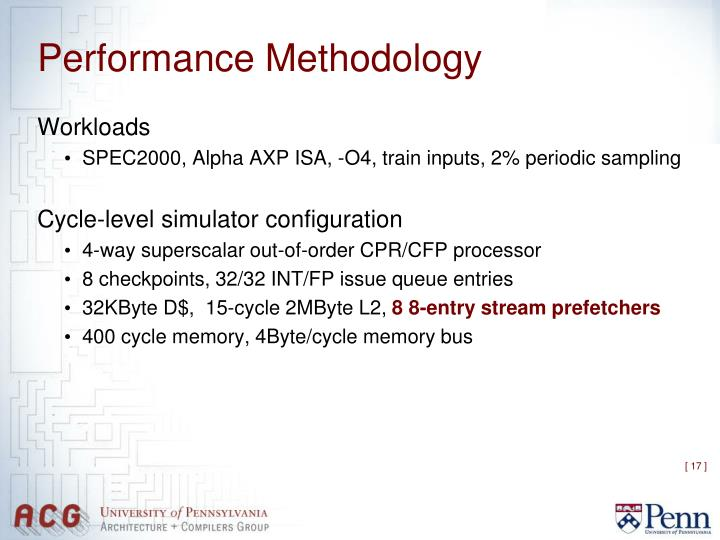Performance Methodology