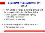 alternative source of data