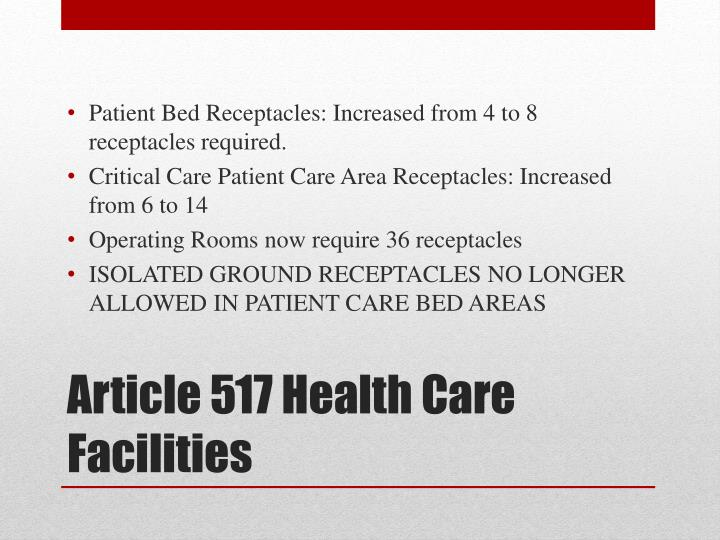 Article Health Care Facilities N on Electrical Safety Covers