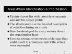 threat attack identification prioritization