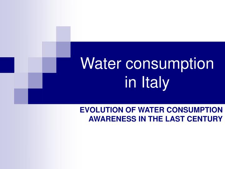 water consumption in italy n.