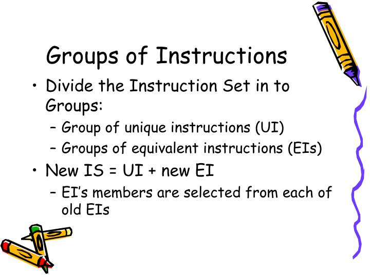 Groups of Instructions