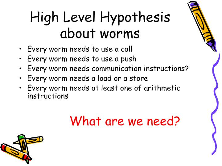 High Level Hypothesis about worms