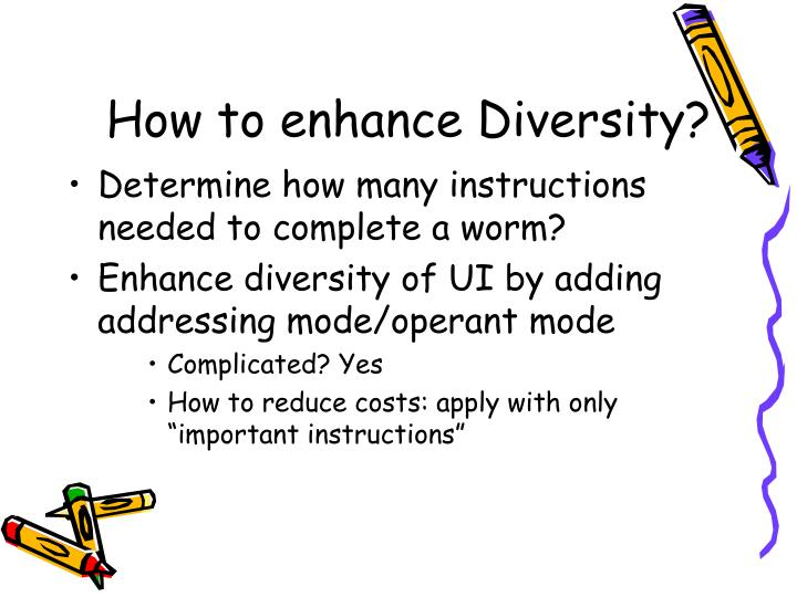 How to enhance Diversity?
