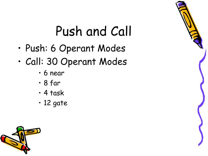 Push and Call