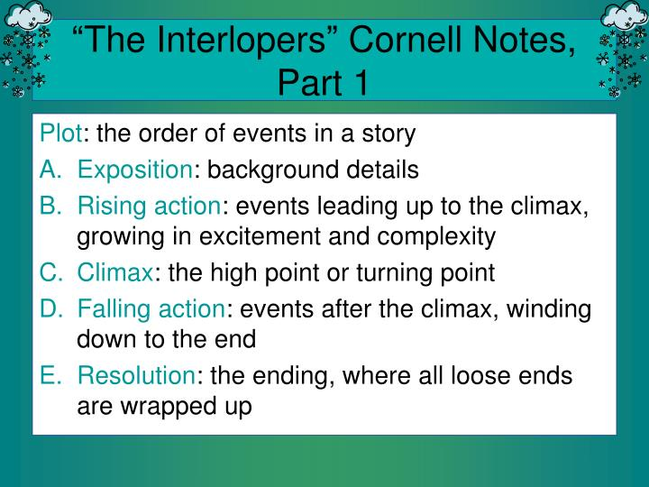 the interlopers cornell notes part 1 n.