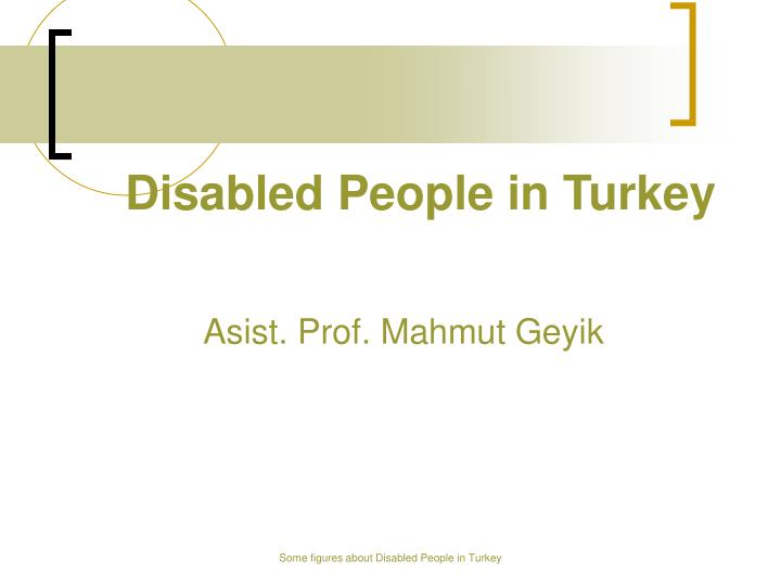 disabled people in turkey n.