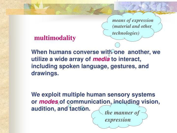 Means of expression (material and other technologies)