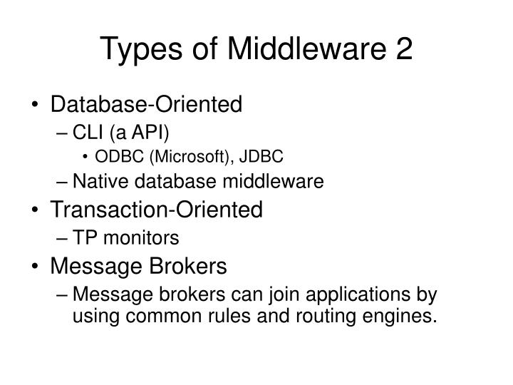 Types of Middleware 2