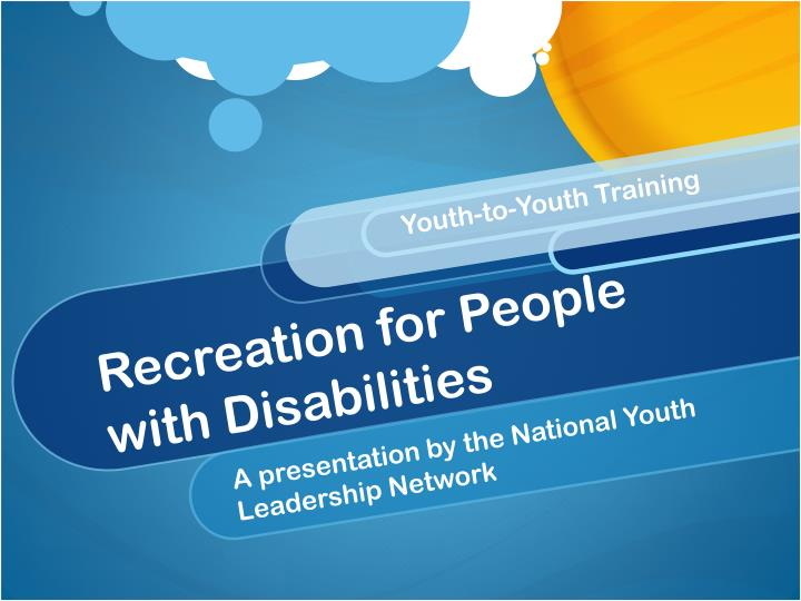 recreation for people with disabilities n.