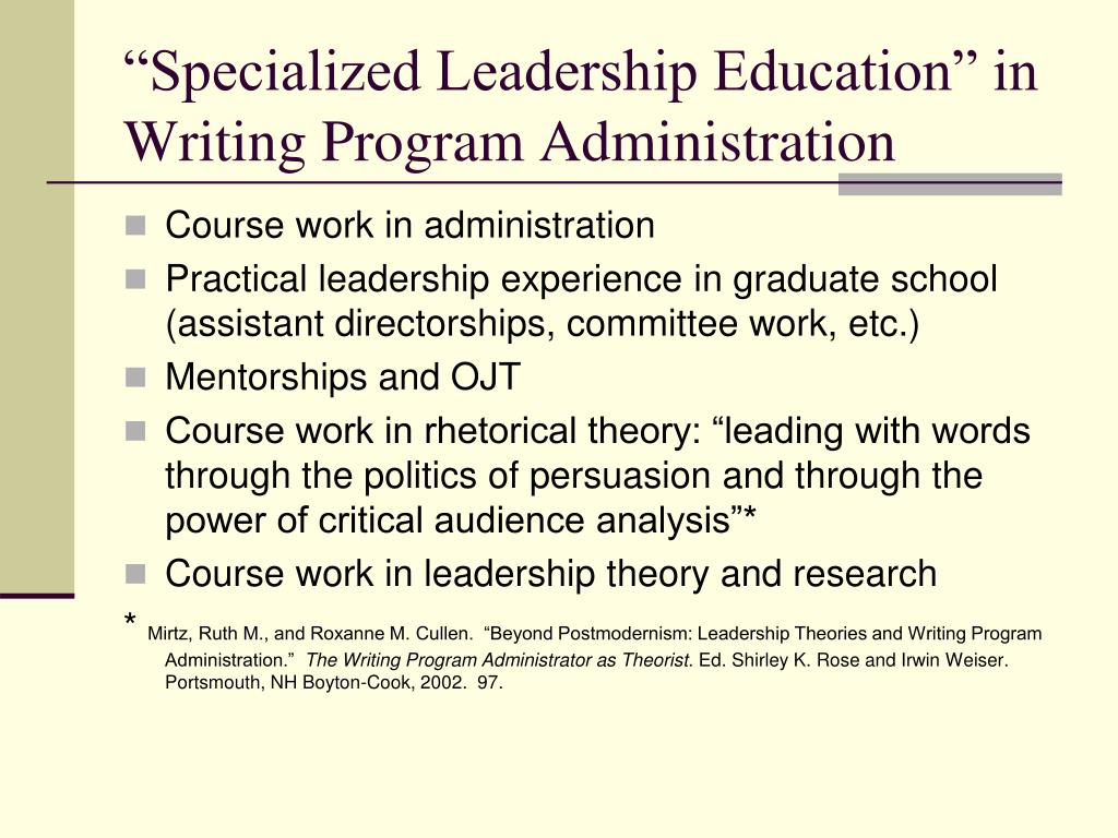 PPT - The WPA as Leader An Exploration PowerPoint