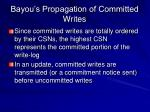 bayou s propagation of committed writes