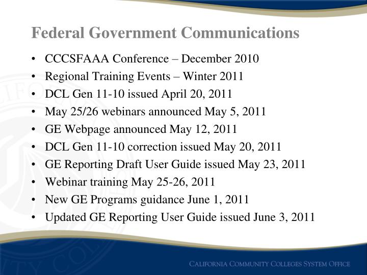 Federal Government Communications