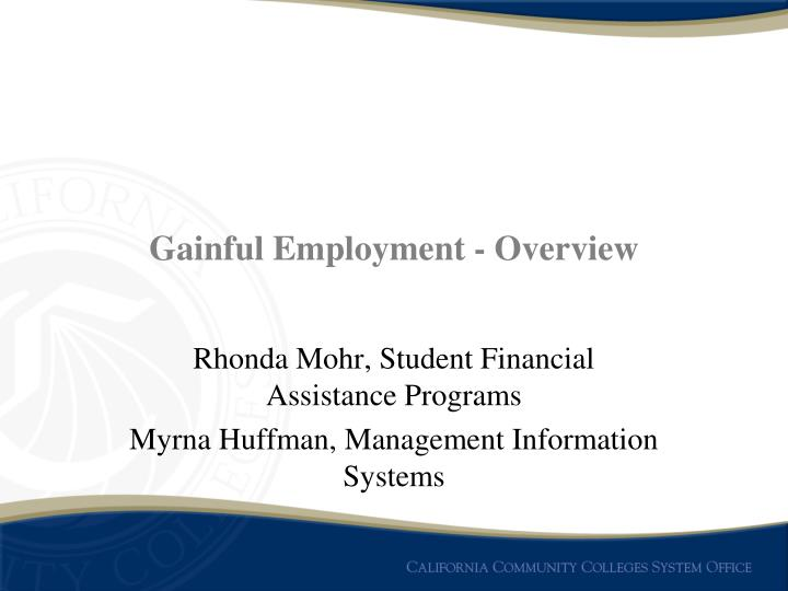 Gainful employment overview