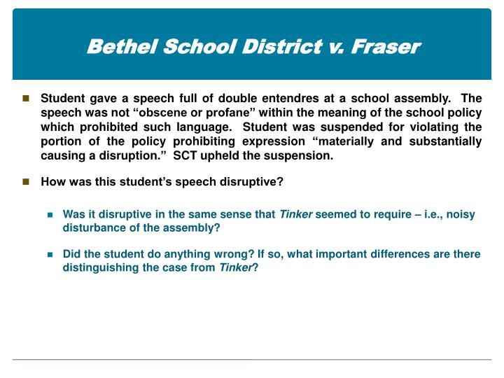 Bethel school district v fraser