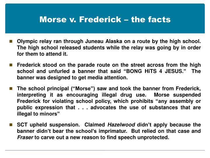 Morse v. Frederick – the facts