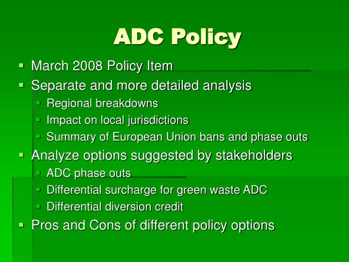 ADC Policy
