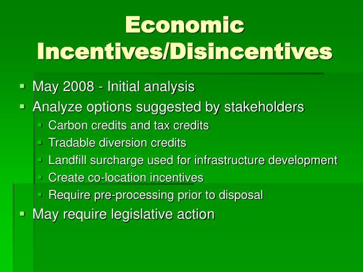 Economic Incentives/Disincentives