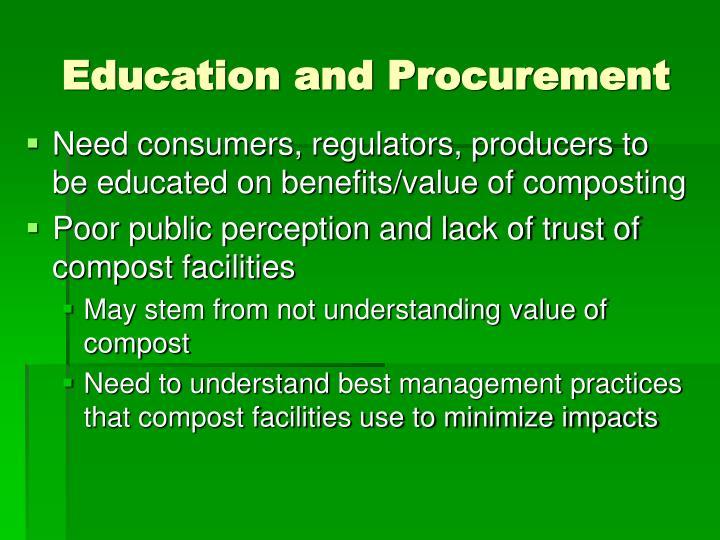 Education and Procurement