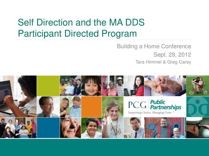 self direction and the ma dds participant directed program n.