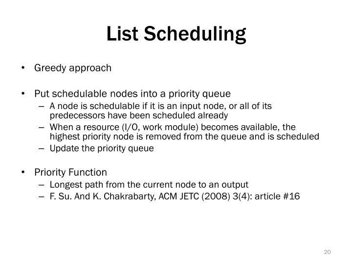 List Scheduling
