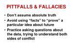 pittfalls fallacies