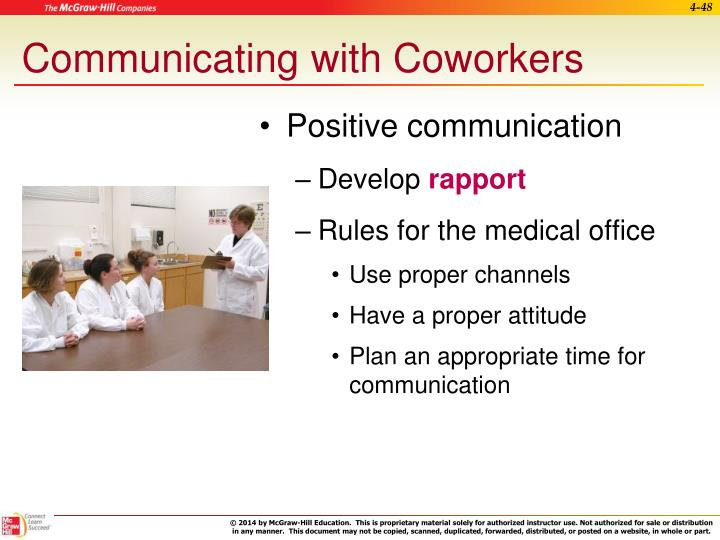Communicating with Coworkers