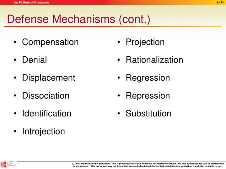 Defense Mechanisms (cont.)
