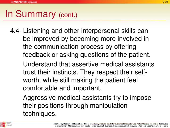 4.4  Listening and other interpersonal skills can
