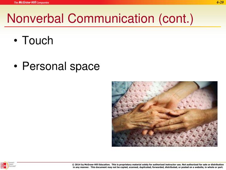 Nonverbal Communication (cont.)