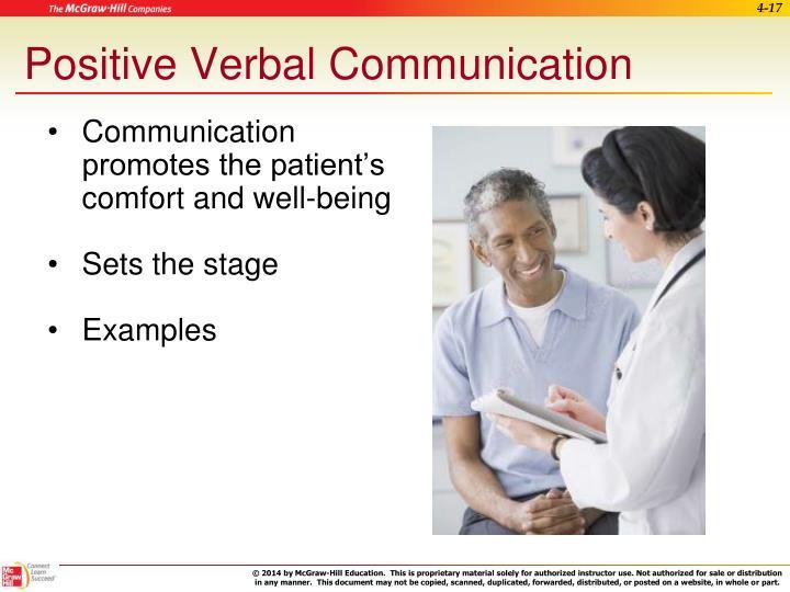 Positive Verbal Communication