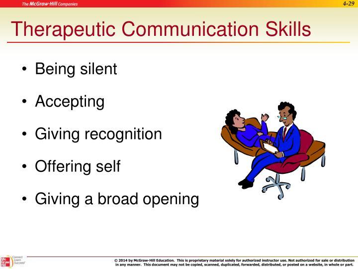 Therapeutic Communication Skills