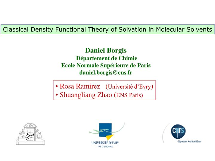 Classical Density Functional Theory of Solvation in Molecular Solvents