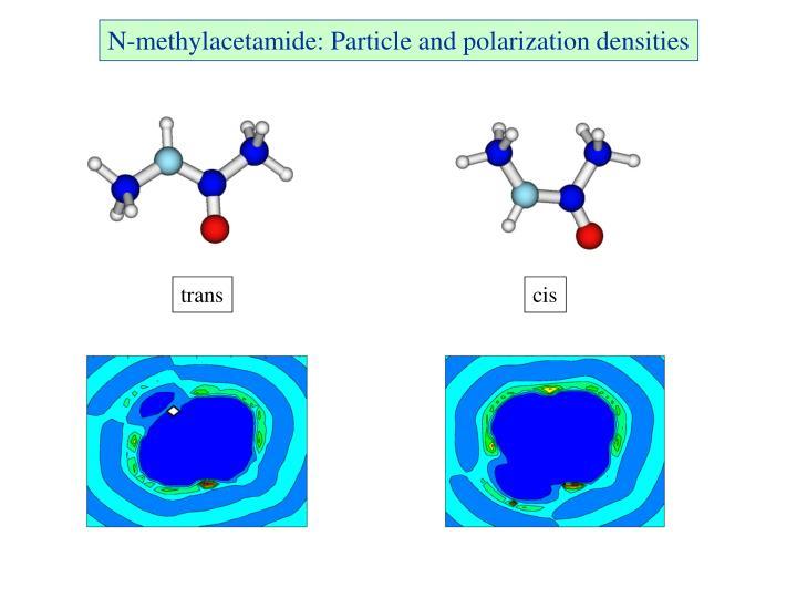 N-methylacetamide: Particle and polarization densities