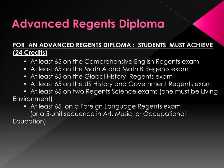 Advanced Regents Diploma