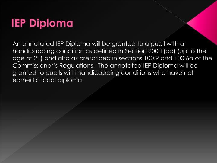 IEP Diploma