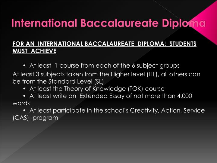 International Baccalaureate Diploma