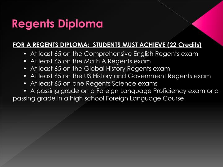 Regents Diploma