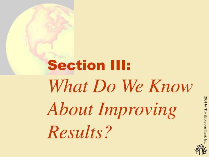 Section III:
