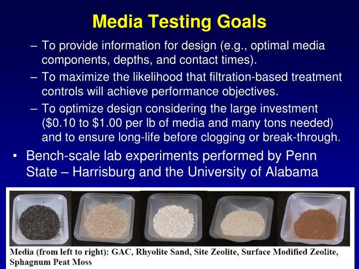Media Testing Goals