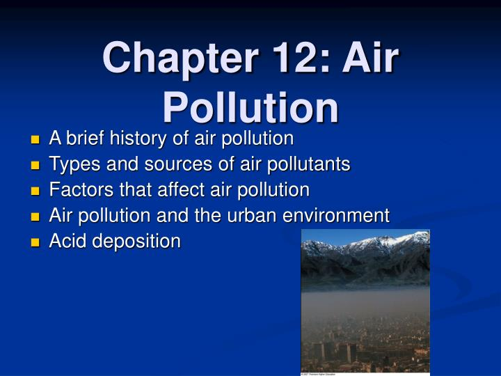 chapter 12 air pollution n.