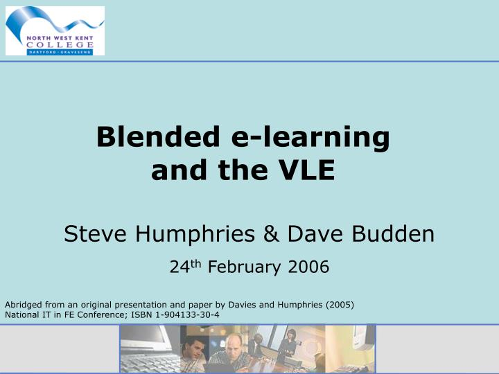 blended e learning and the vle n.