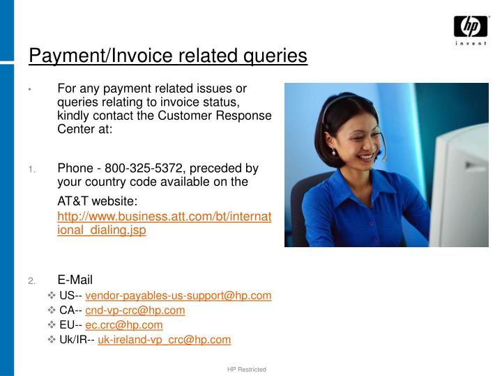 Payment/Invoice related queries