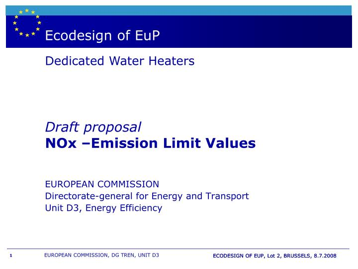 boiler wh labelling and european directive eup n.