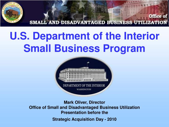 u s department of the interior small business program n.