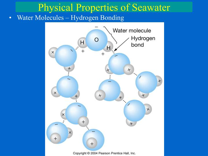 the physical properties of water during hydrogen bonding