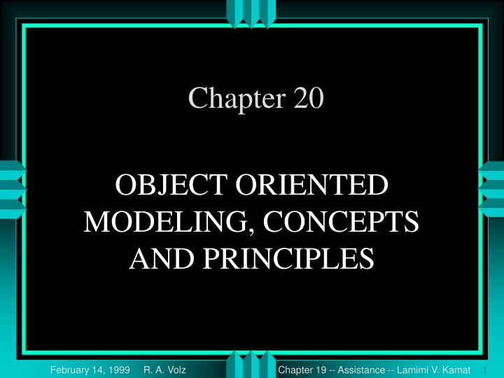 object oriented modeling concepts and principles n.